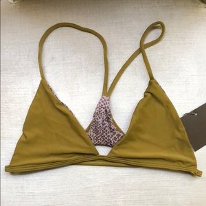 NWT Acacia Swimwear Shaka Top Mustard Large